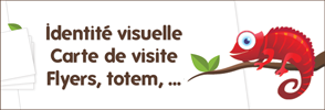documents imprims : cartes de visites, flyers, totems, dpliants, triptiques, logo