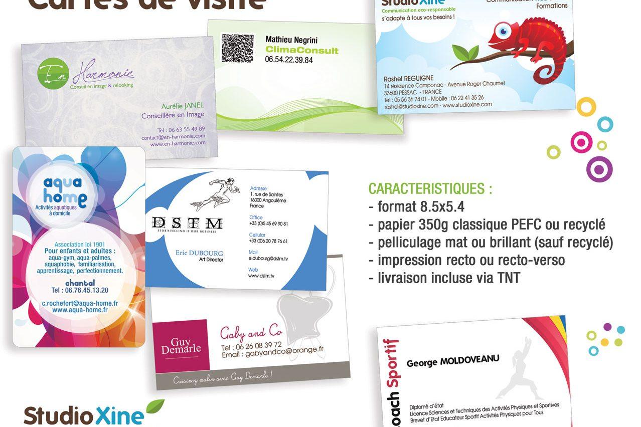 Les Techniques De Travail Cartes Visite Sur Papier Recycle Par StudioXine Communication Responsable