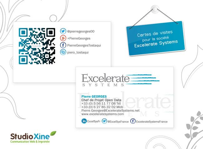 Cartes De Visite Pour Excelerate Systems